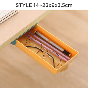 STACKABLE Under Desk Drawer Organizer Storage
