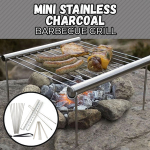 Mini Stainless Charcoal Barbecue Grill