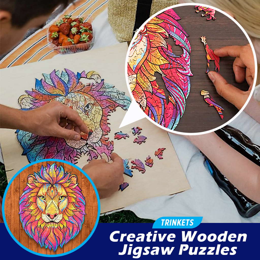 TRINKETS Creative Wooden Jigsaw Puzzles
