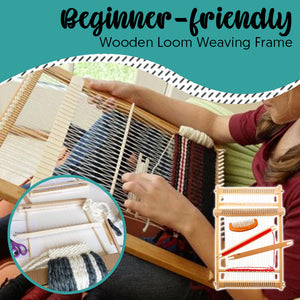 Beginner-friendly Wooden Loom Weaving Frame