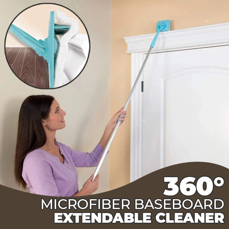 360° Microfiber Baseboard Extendable Cleaner