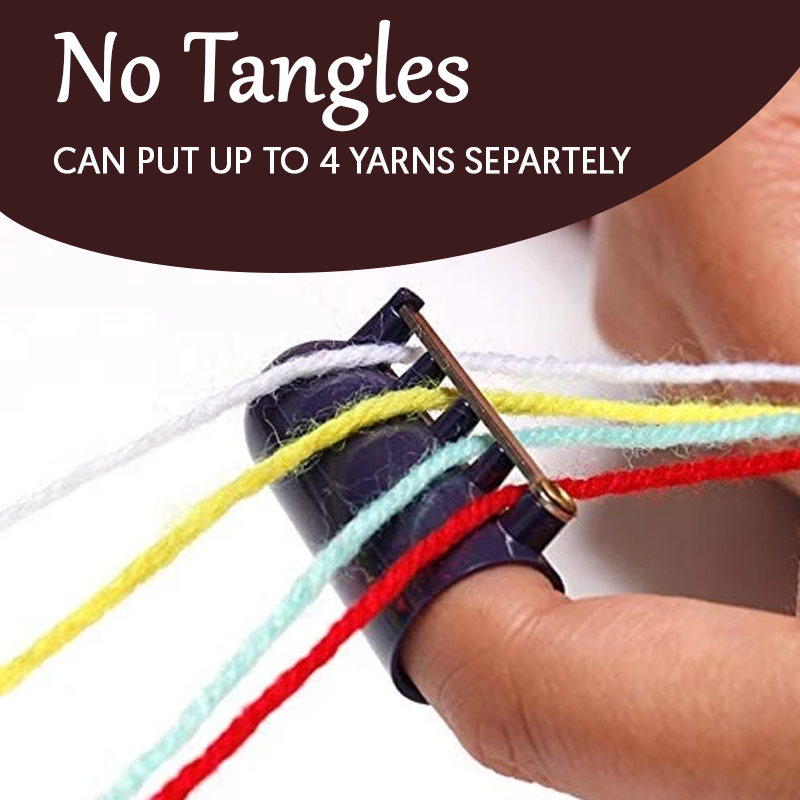 2-in-1 Yarn Finger Guide and Thimble