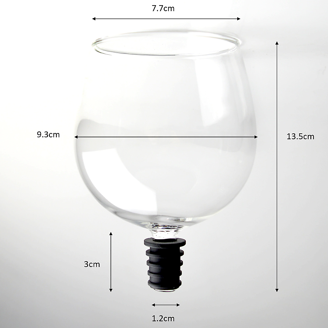 GlassDrink Direct from Wine Bottle