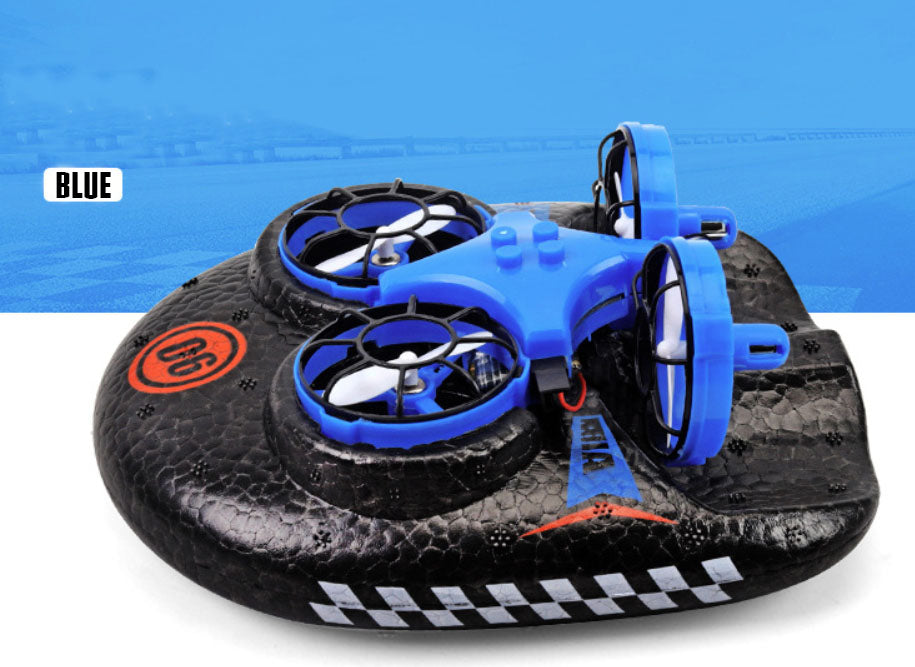 3-IN-1 Sea-Land-Air Hovercraft RC Quadcopter