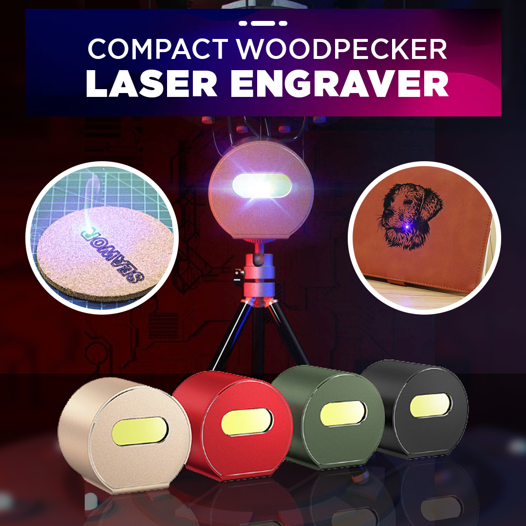 Compact Woodpecker Laser Engraver