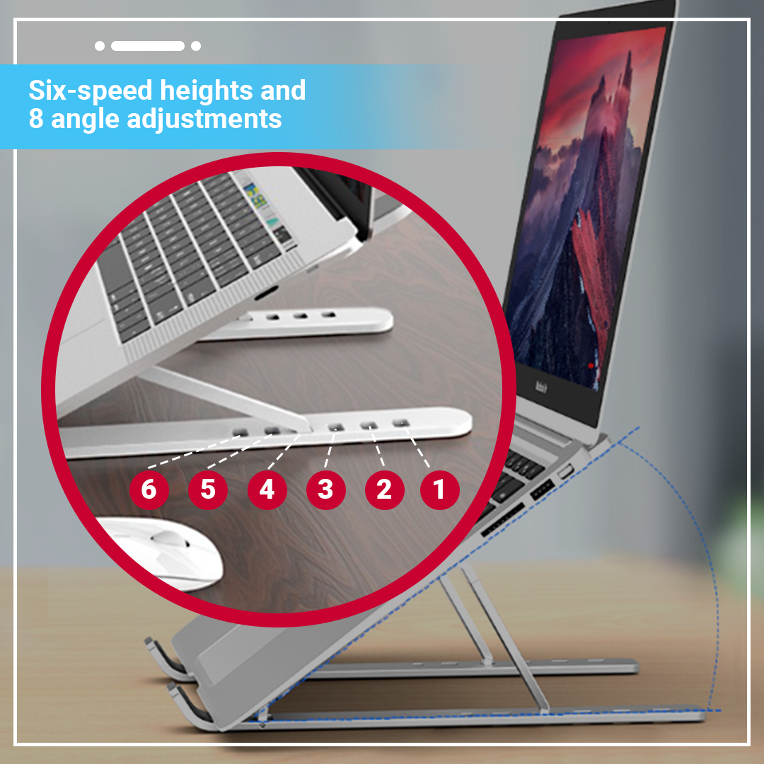 Foldable Aluminium Triangle Notebook Stand