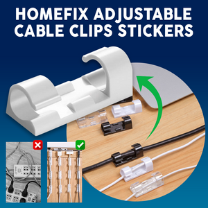 HomeFix Adjustable Cable Clips Stickers