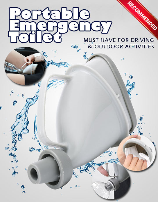 Portable Emergency Toilet - Must have for driving & outdoor activities