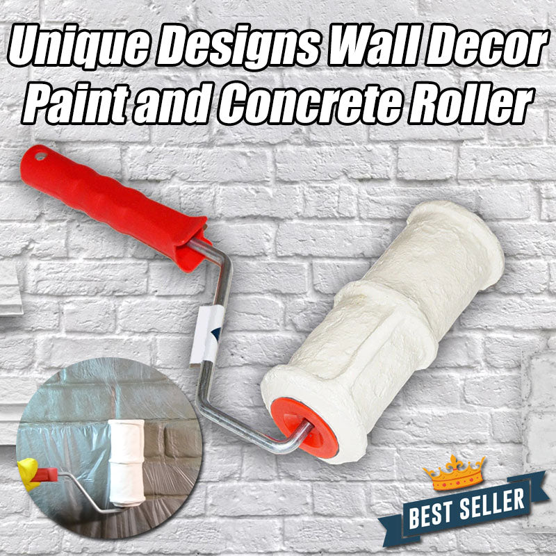 Unique Designs Wall Decor Paint and Concrete Roller