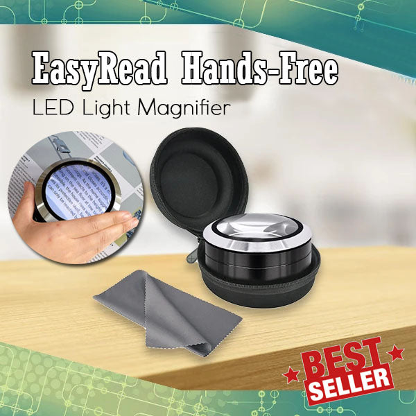 EasyRead Hands-Free LED Light Magnifier
