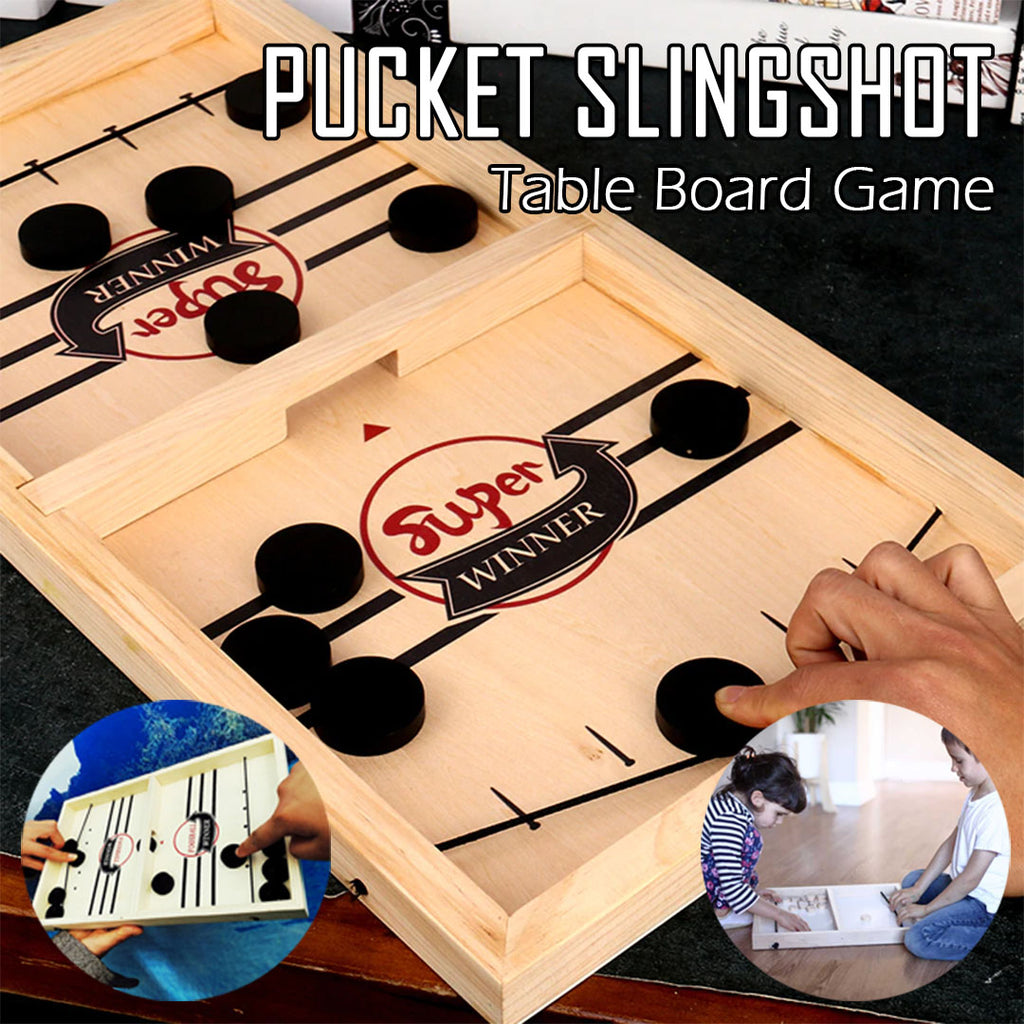 Pucket Slingshot Table Board Game