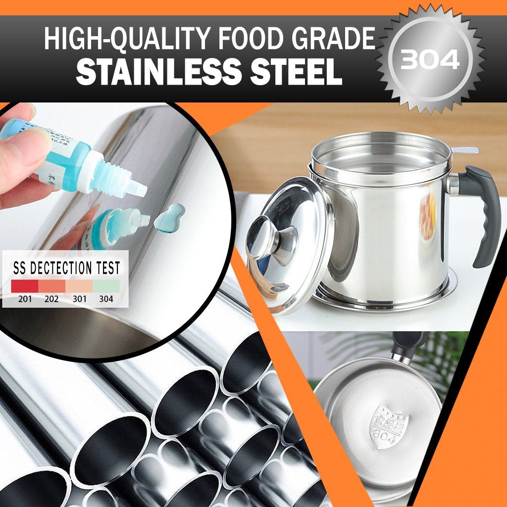 Stainless Steel Oil Filter Pot