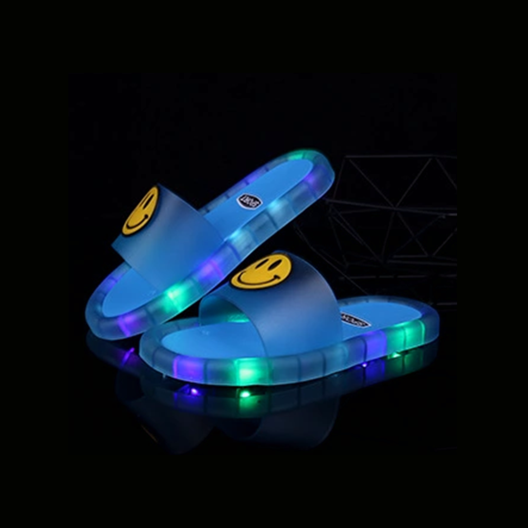 Smiley LED Kids Slippers