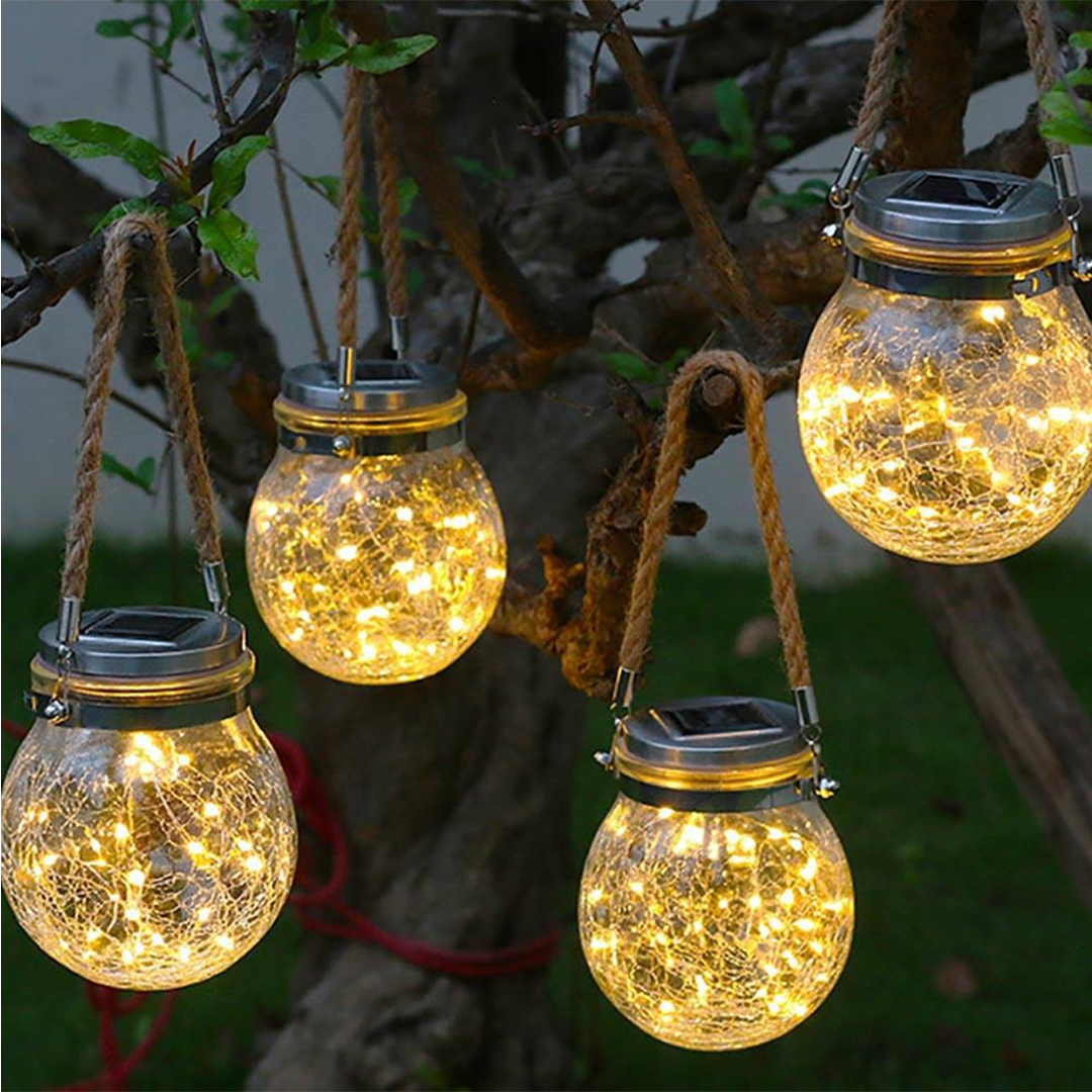 SolarLED Crystal Ball Hanging Lamp