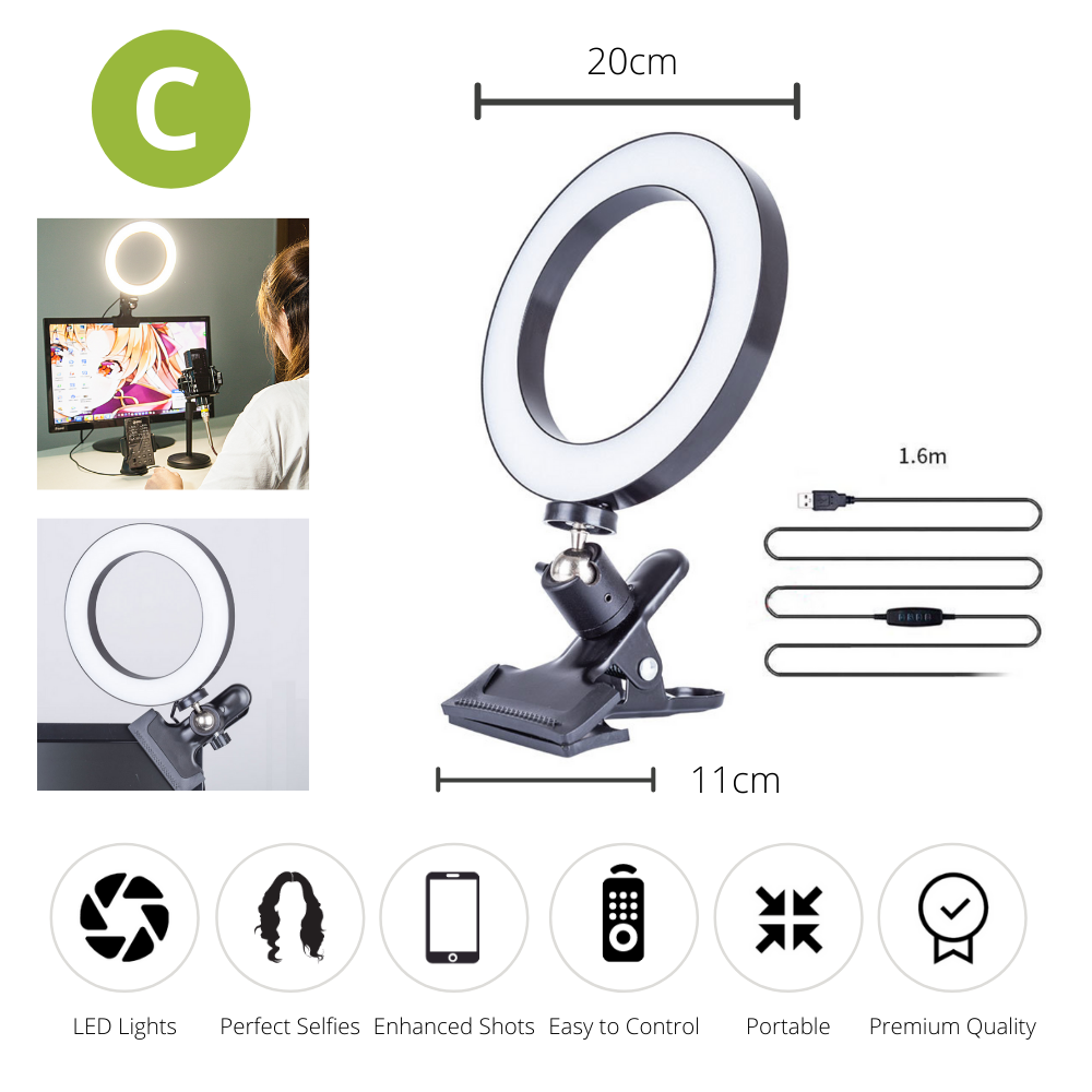 BeautyLight™ Upgraded Selfie Ring Light