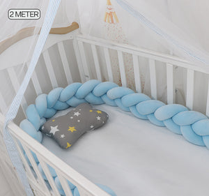 Braided Baby Crib Bumper
