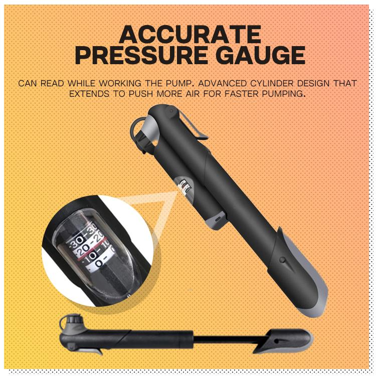 High-Pressure Bike Pump with Barometer
