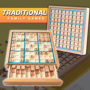 TableTop Wooden Sudoku Board Game