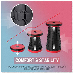 Retractable Outdoor Cylinder Disc Stool