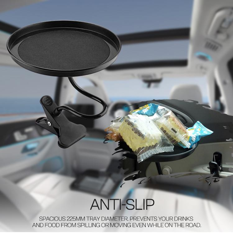 Car Food Tray with Clamp Bracket