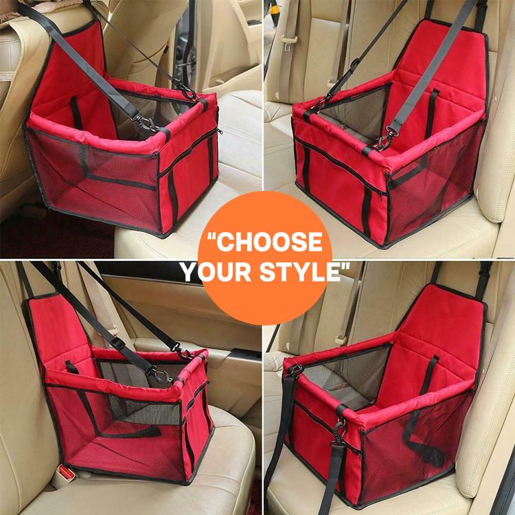 Dog Car Mesh Carrier Seat
