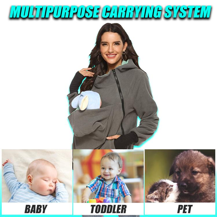 Mimi Kangaroo Hooded Sweatshirt Baby Carrier