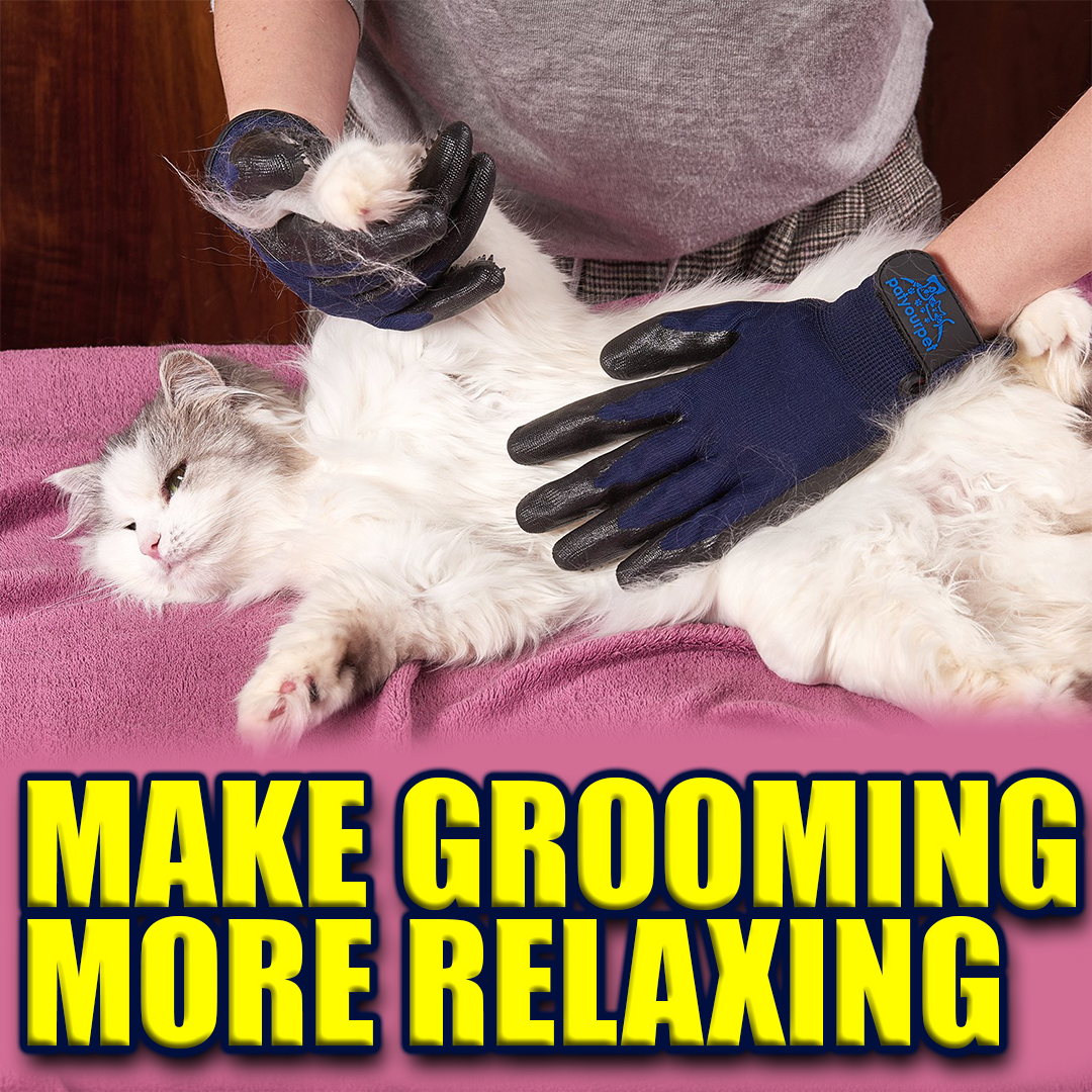 Pet Grooming Gloves for Dogs, Cats and Horses