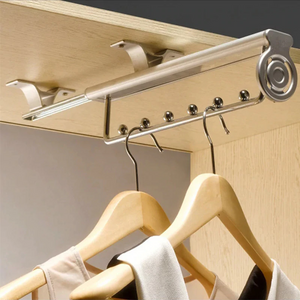 Retractable Pull Out Wardrobe Organizer Rack