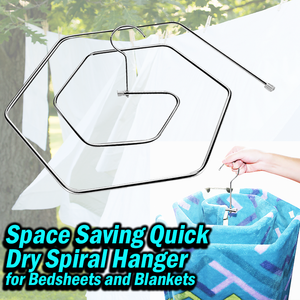 Space saving Quick Dry Spiral Hanger for Bedsheets and Blankets