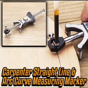 Carpenter Straight Line and Arc Curve Measuring Marker