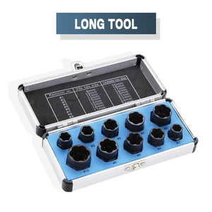 10-Piece EZ Grip Bolt Extractor Set