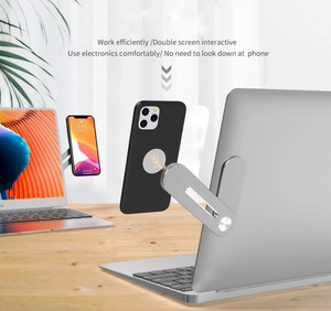 SmartHold™ Dual Monitor Magnetic Side-Mount Clip & Phone Holder