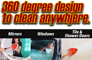 360 Adjustable Windows and Mirror Microfibre Cleaning Kit