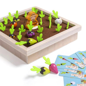 Veggiezz Wooden Vegetable Puzzle Memory Game