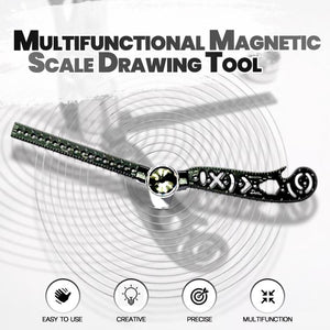 Multifunctional Magnetic Scale Drawing Tool