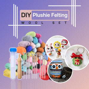 DIY Plushie Felting Wool Set