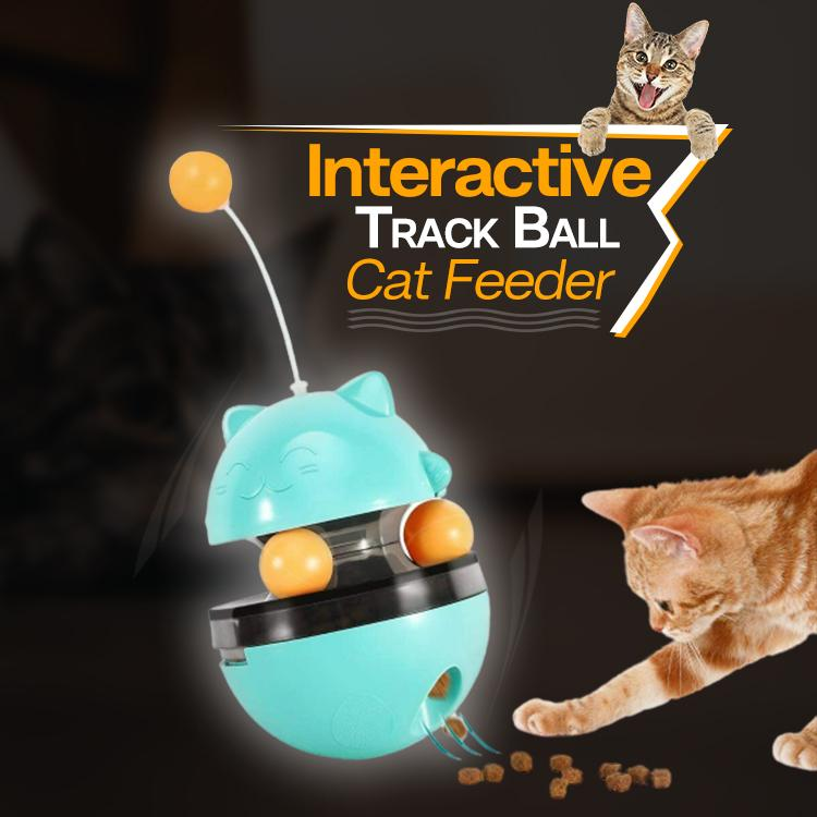 Interactive Track Ball Cat Feeder