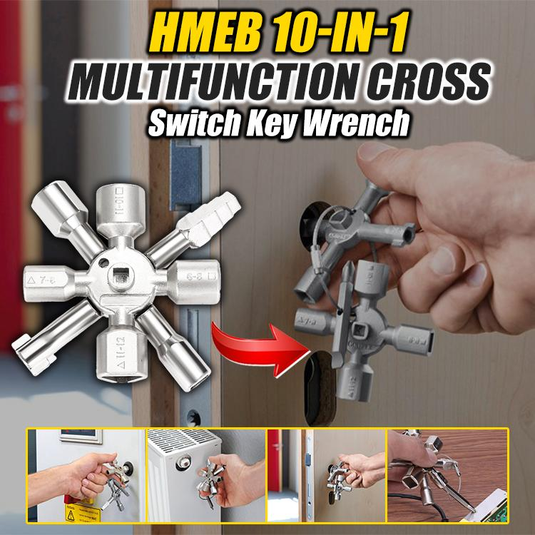 HMEB 10-in-1 Multifunction Cross Switch Key Wrench