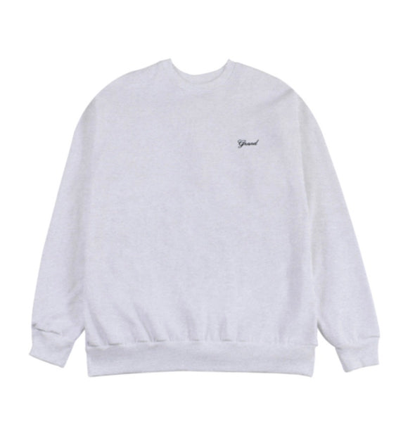 Grand Collection Script Crewneck - Grey