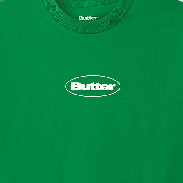 Butter Puff Badge Logo Tee - Kelly Green