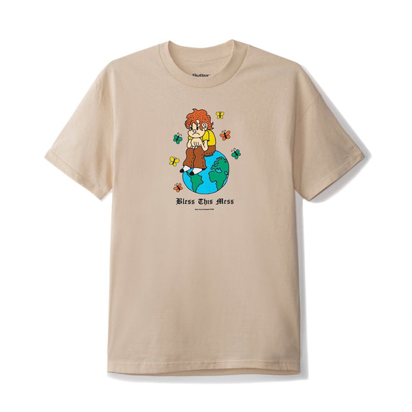 Butter Goods Bless This Mess Tee - Sand