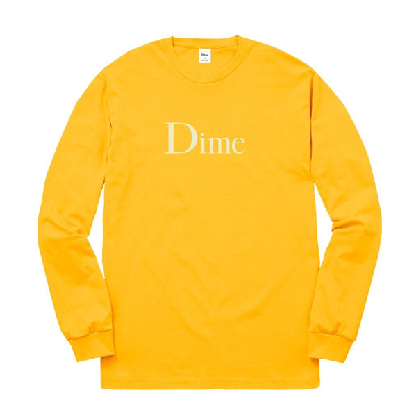 DIME L/S Tee Classic Logo - Gold
