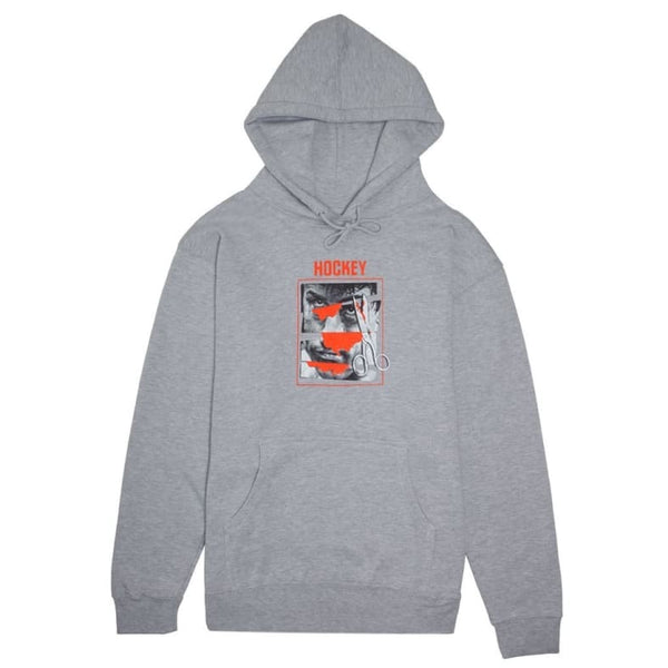 Hockey Skateboards Cut Face Hoodie - Heather Grey