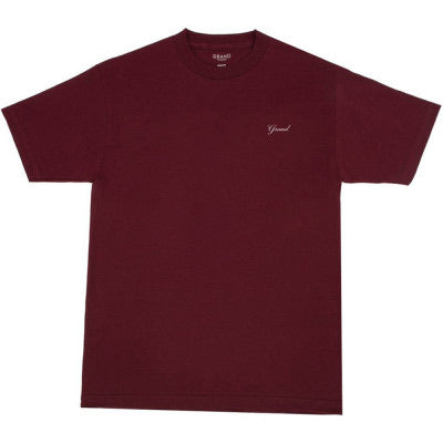Grand Collection Script Tee - Burgundy