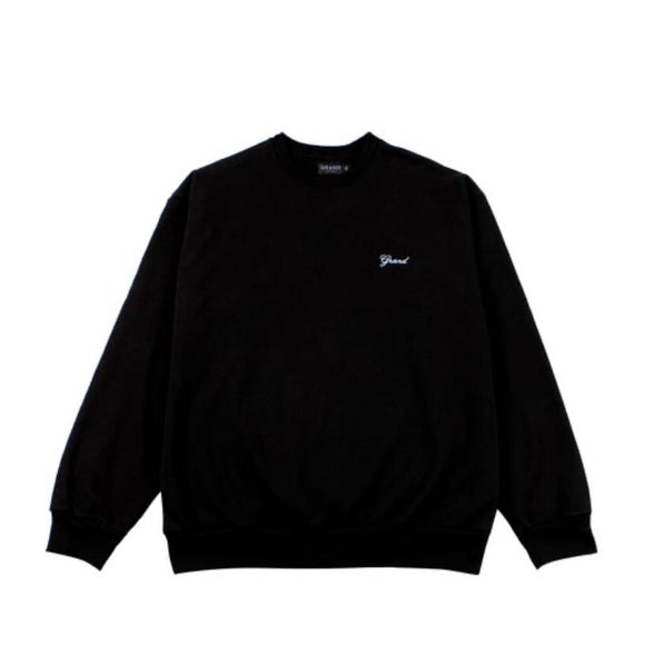 Grand Collection Script Crewneck - Black