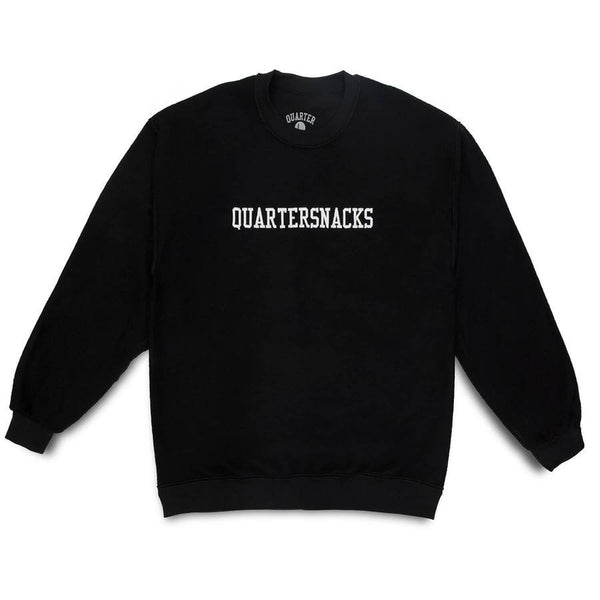 Quartersnacks Inside Out Embroidered Crewneck - Black