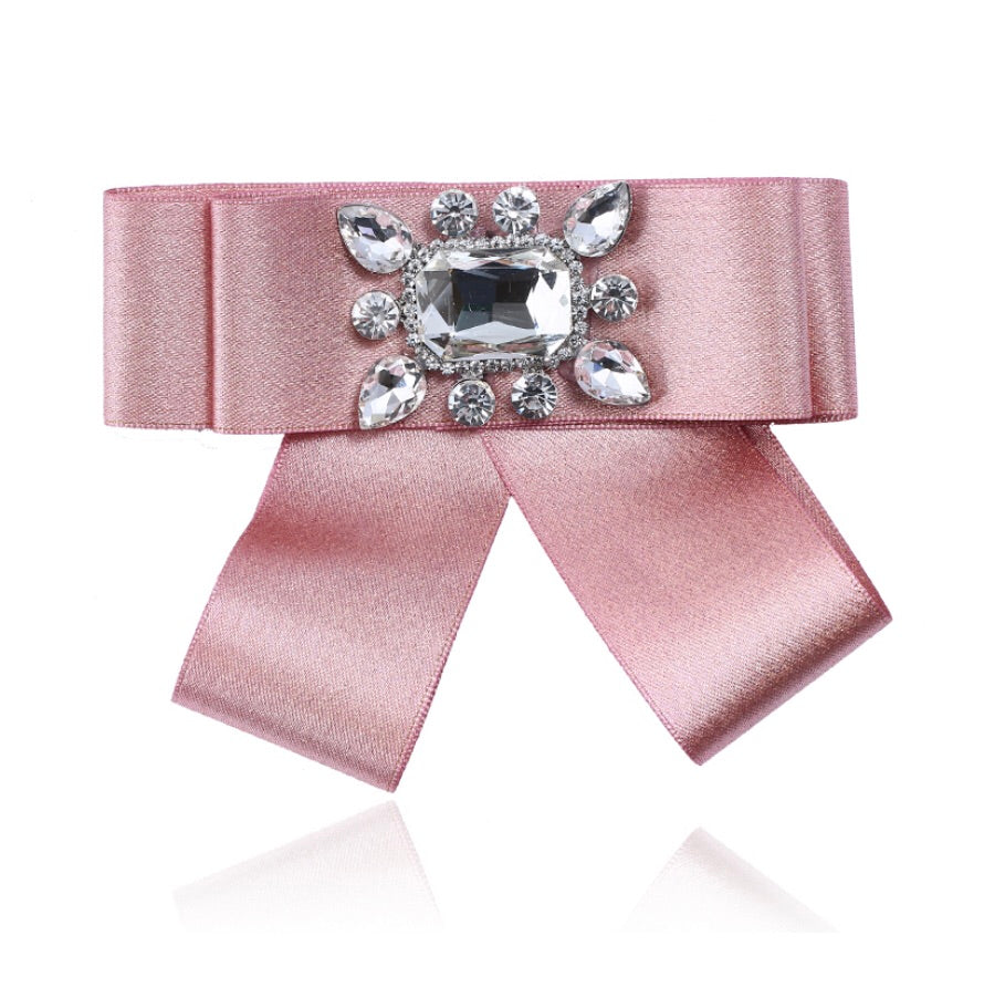 Posh Little Lady Pink Mini Satin Bow Tie PRE-ORDER