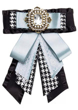 Load image into Gallery viewer, Posh Little Lady Vintage Houndstooth Bow Tie (More Colors)