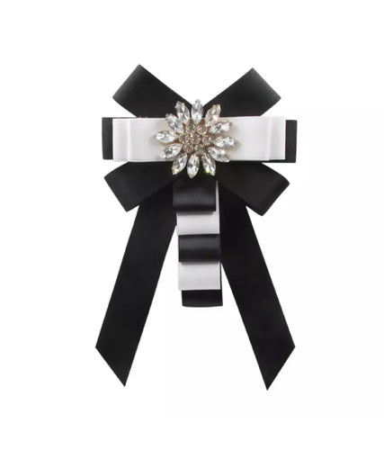 Posh Little Lady Tuxedo Glam Bow Tie