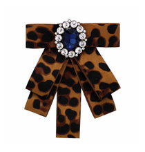 Load image into Gallery viewer, Posh Little Lady Leopard Bow Tie (More Colors) PRE-ORDER